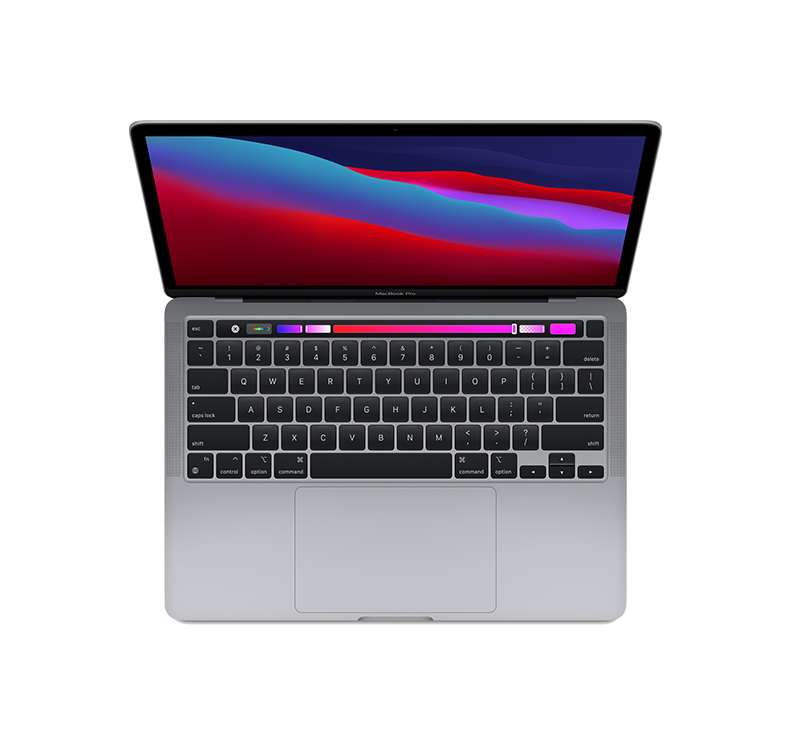 MacBook Pro 13-inch Top View