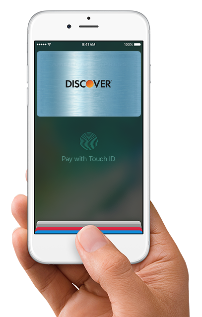 Apple Pay hand with iPhone