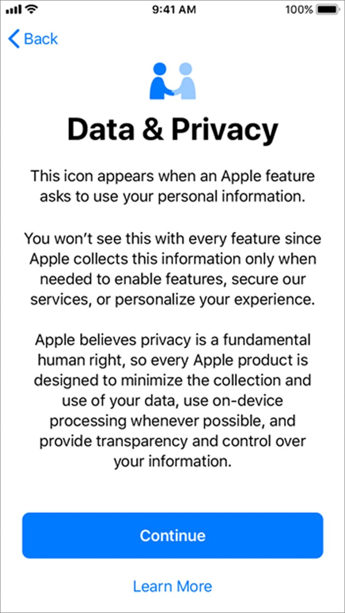 iOS 11.3 DataPrivacy