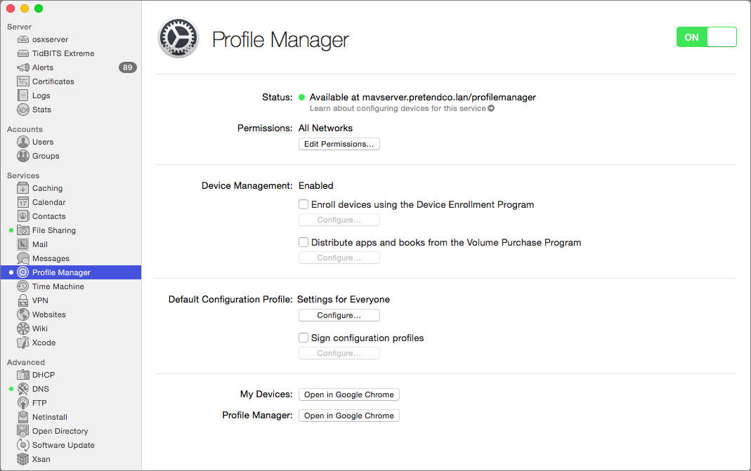 Server Profile Manager