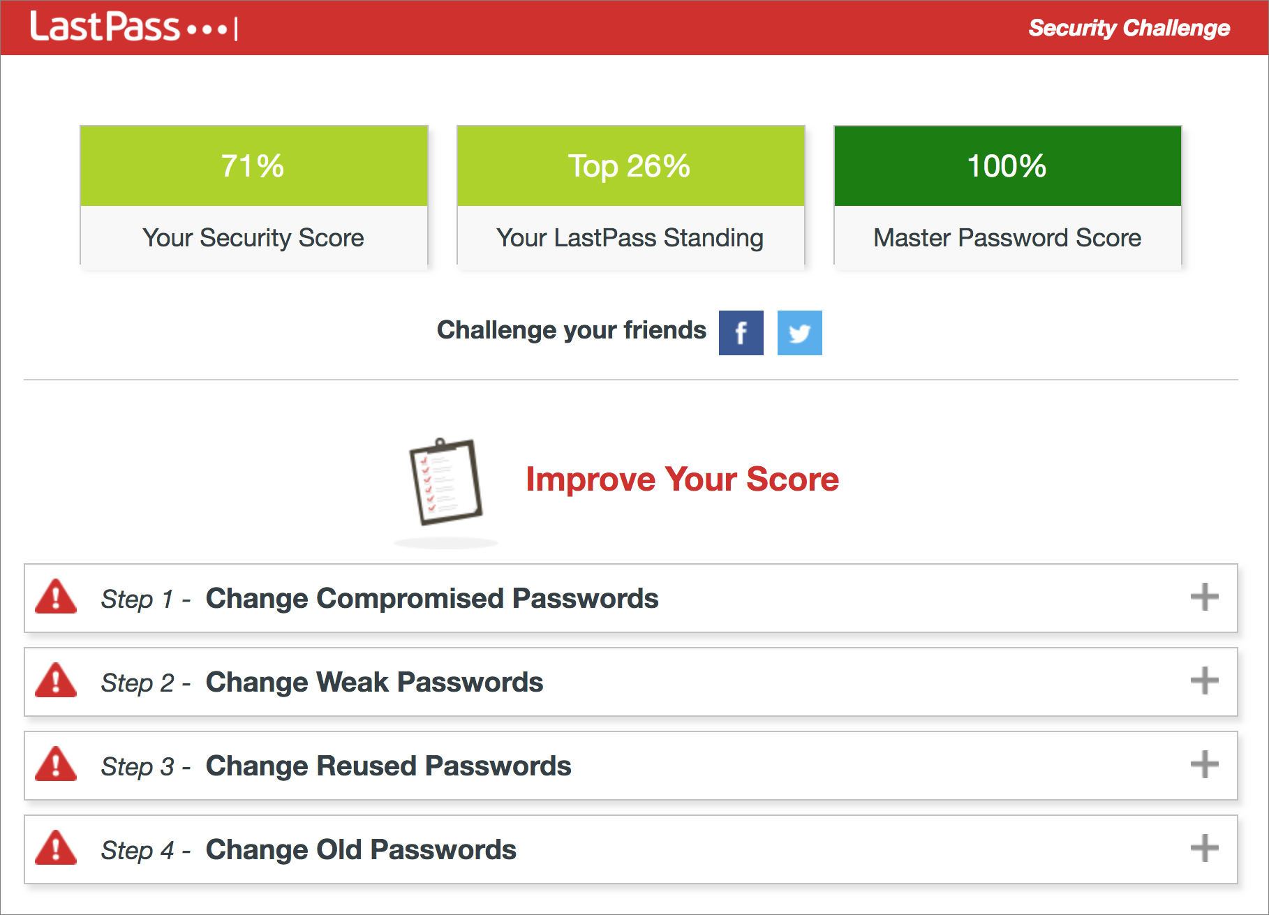 Pwned LastPass Security Challenge