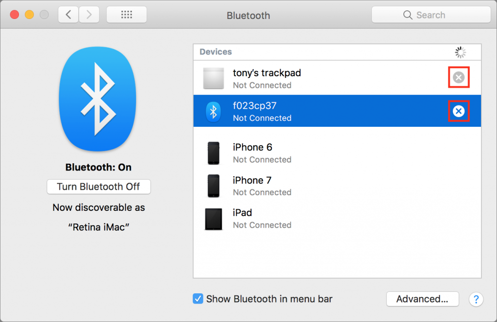 Unpair Bluetooth 1024x663