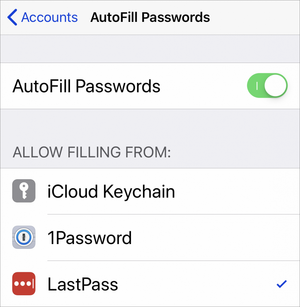 iOS 12 Password Managers setup 1003x1024