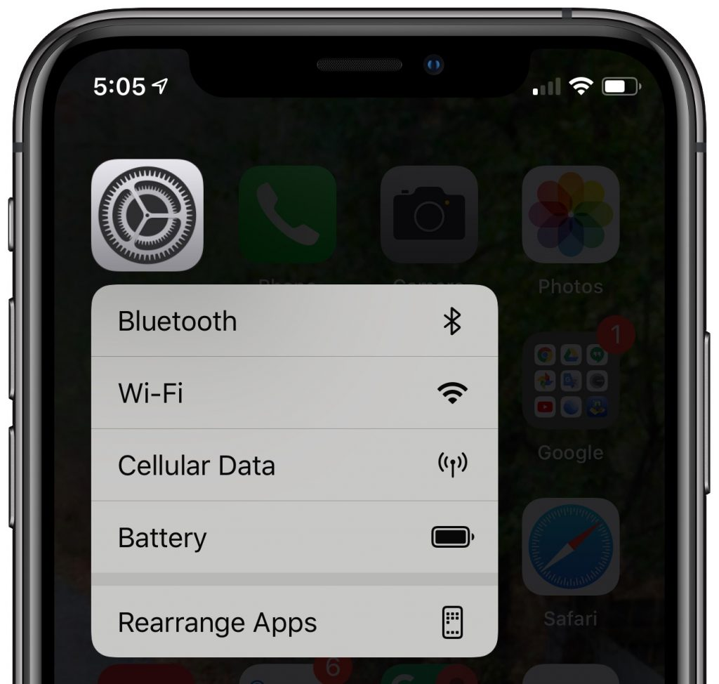 3D Touch Settings 1024x974