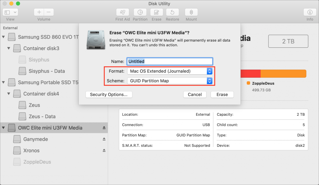 Time Machine Disk Utility format 1024x593