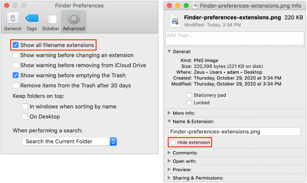 Finder extensions settings info 1024x613