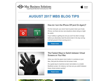 MBS Blog Tips: August 2017 Edition