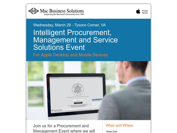 Mac and iPad Procurement, Management and Service Event