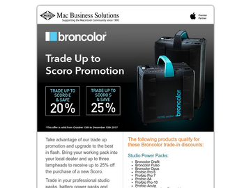 Broncolor Promotion - Trade Up to Scoro