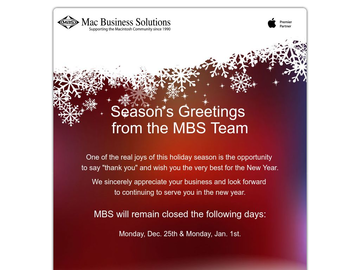 Happy Holidays from Mac Business Solutions