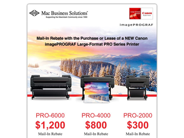 Canon imagePROGRAF Mail-in-Rebate is back!