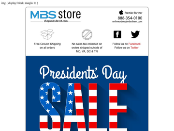 MBS Presidents Day Sale!