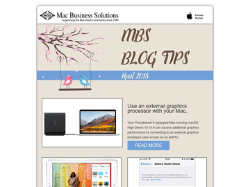 MBS Blog Tips- April 2018 Edition
