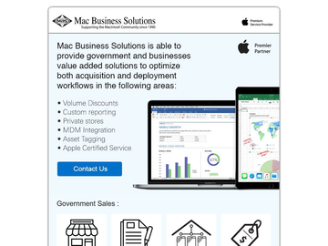 Apple Premier Partner Solutions for Government and Business by MBS