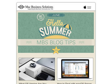 MBS Blog Tips: June 2018 Edition