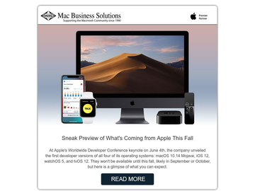 MBS Bonus Blog: Sneak Preview of What's Coming from Apple This Fall