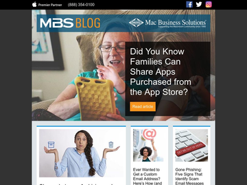 MBS Blog March 2019: Did You Know Families Can Share Apps Purchased from the App Store?