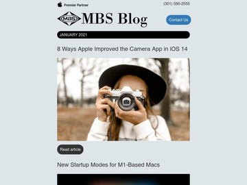 MBS Blog: Mac, iPhone and iPad News - January 2021
